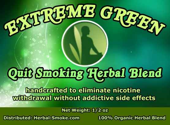 Quit Smoking Herbal Smoking Blend - Extreme Green Herbal Smoke Blend