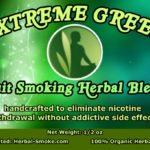 Quit Smoking Herbal Smoking Blend - Extreme Green Herbal Smoke Blend
